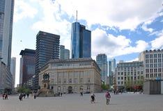 Vista della città di Francoforte in Germania Fotografie Stock