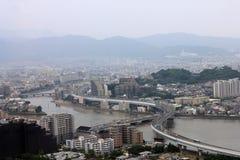Vista della città di FUKUOKA Immagini Stock Libere da Diritti