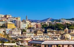 Vista della città di Genova - Italia fotografia stock libera da diritti