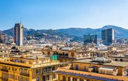 Vista della città di Genova - Italia immagine stock libera da diritti