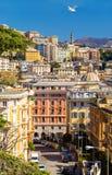 Vista della città di Genova - Italia fotografia stock