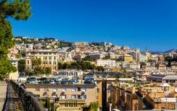 Vista della città di Genova - Italia immagini stock