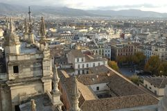 Vista della città di Granada fotografie stock libere da diritti
