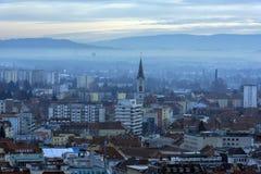Vista della città di Graz da sopra, l'Austria Fotografie Stock