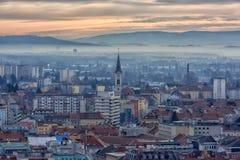 Vista della città di Graz da sopra, l'Austria Fotografia Stock