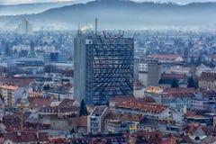 Vista della città di Graz da sopra, l'Austria Immagini Stock