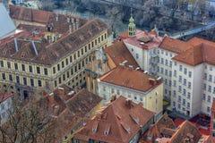 Vista della città di Graz da sopra, l'Austria Immagini Stock Libere da Diritti