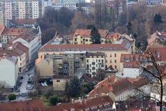Vista della città di Graz da sopra, l'Austria Immagine Stock Libera da Diritti