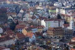 Vista della città di Graz da sopra, l'Austria Fotografie Stock Libere da Diritti
