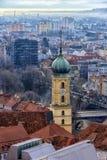 Vista della città di Graz da sopra, l'Austria Fotografia Stock Libera da Diritti