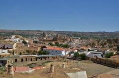 Vista della città di Guadix con Alcazaba - la Spagna Fotografia Stock