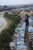 Vista della città di Guilin fotografia stock
