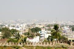 Vista dalla fortificazione di Golcanda Fotografie Stock Libere da Diritti