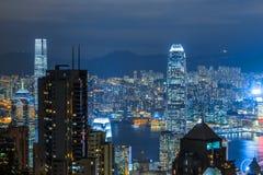 Vista della città di Hong Kong Immagini Stock