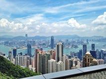 Vista della città di Hong Kong immagine stock