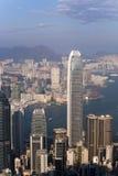 Vista della città di Hong Kong dal picco di Victoria immagine stock libera da diritti