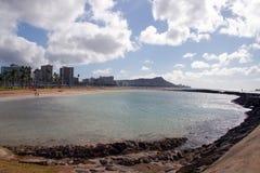 Vista della città di Honolulu Fotografie Stock