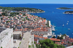 Vista della città di Hvar Immagini Stock Libere da Diritti