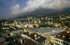 Vista della città di Innsbruck Immagini Stock