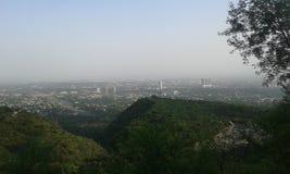 Vista della città di Islamabad Fotografie Stock
