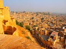Vista della città di Jaisalmer Fotografia Stock
