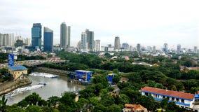 Vista della città di Jakarta immagine stock libera da diritti