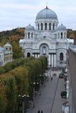 Vista della città di Kaunas da sopra Immagini Stock
