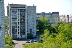 Vista della città di Komsomol'sk-na-Amure, Russia Fotografia Stock
