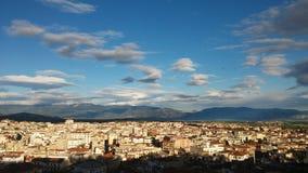 Vista della città di Kozani fotografie stock libere da diritti