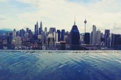 Vista della città di Kuala Lumpur Fotografie Stock