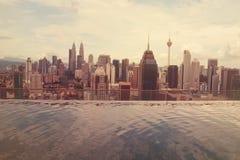 Vista della città di Kuala Lumpur Fotografia Stock Libera da Diritti