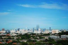 Vista della città di Kuala Lumpur Fotografie Stock Libere da Diritti