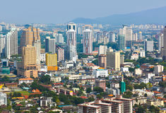 Vista della città di Kuala Lumpur (Malesia) immagini stock