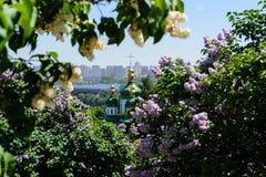 Vista della città di Kyiv in primavera Fotografia Stock