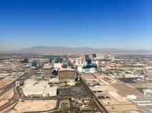 Vista della città di Las Vegas dall'aria Fotografie Stock