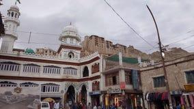 Vista della città di Leh fotografia stock