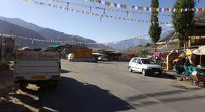 Vista della città di Leh immagine stock libera da diritti