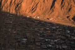 Vista della città di Leh, la capitale di Ladakh, India del Nord Fotografia Stock