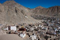 Vista della città di Leh, Ladakh, India Fotografia Stock Libera da Diritti