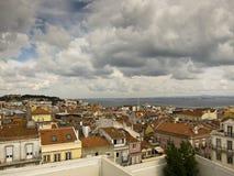 Vista della città di Lisbona Immagini Stock