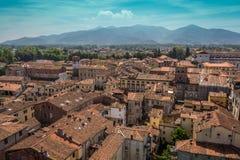 Vista della città di Lucca, Italia Fotografia Stock Libera da Diritti