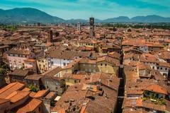 Vista della città di Lucca, Italia Fotografie Stock Libere da Diritti