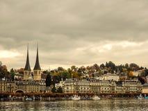 Vista della città di Lucerna fotografie stock