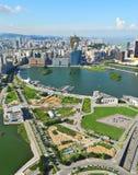 Vista della città di Macau Fotografie Stock