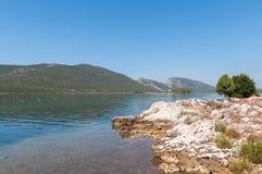 Vista della città di Mali Ston in Croazia Fotografia Stock Libera da Diritti