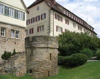 Vista della città di Marbach Fotografia Stock Libera da Diritti