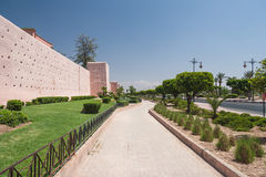 Vista della città di Marrakesh Immagine Stock