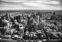 Vista della città di Melbourne Immagini Stock