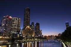 Vista della città di Melbourne Fotografie Stock