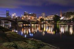 Vista della città di Melbourne Fotografia Stock Libera da Diritti